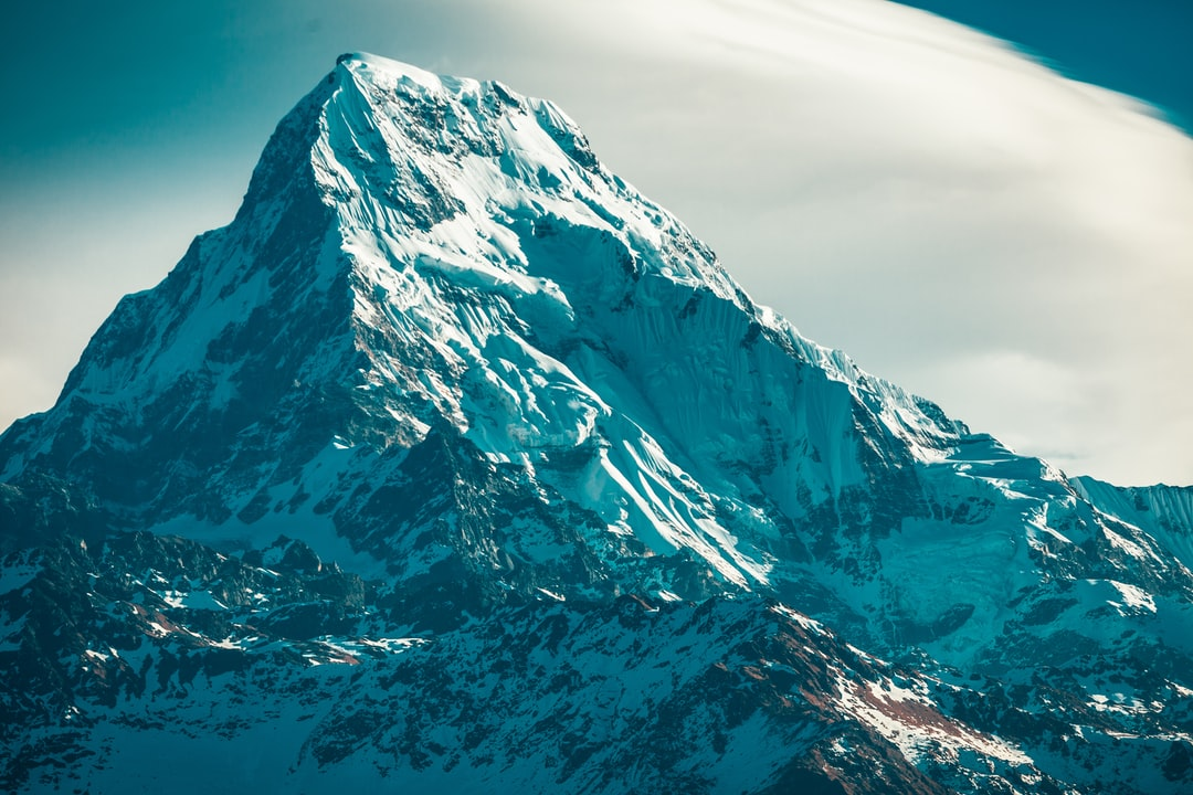 A snow covered mountain